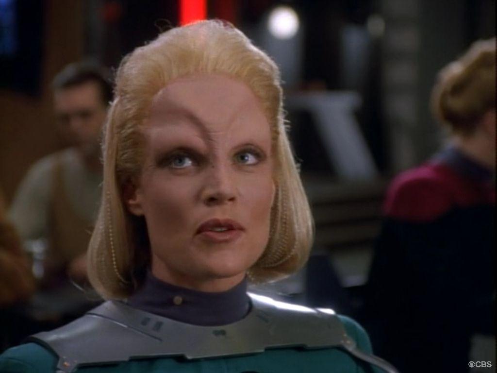 Headshot of Daphne Lee Ashbrook, who plays Malora in Star Trek: Deep Space Nine.